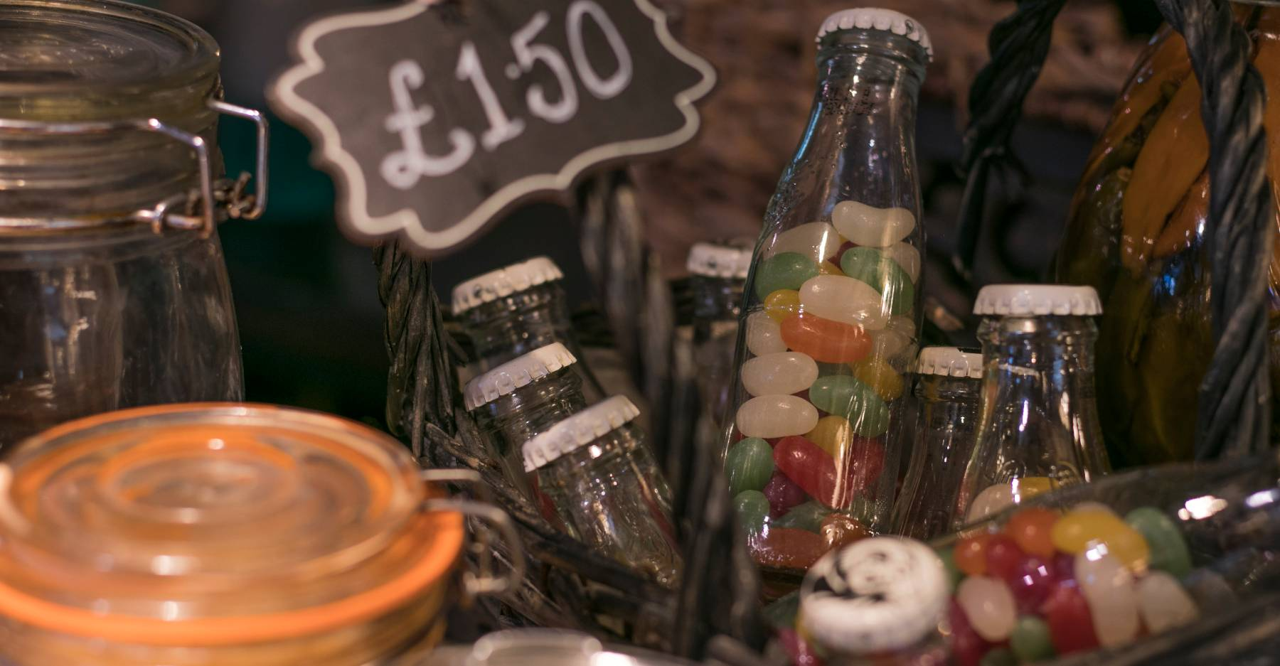 sweets in bottles